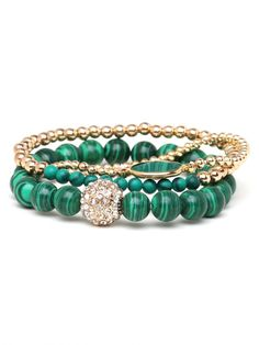 Vert Bracelet Trio - Love the colors, perfect for fall
