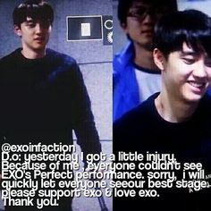 During the SM town Japan Exo Facts, Give It To Me, Let It Be, Exo K, Kyungsoo, Japan, Kpop, Instagram Posts, Japanese