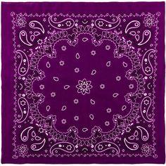"""22"""" x 22"""" Purple Fashion Bandana"""