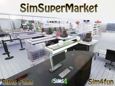 Sims Fans: Sim Super Market by Sim4fun • Sims 4 Downloads