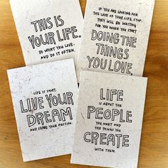cool cards for life or clients  Letterpress Cards by Yoko | HOLSTEE