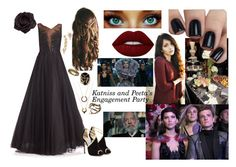 """Clementine At Katniss and Peeta's Engagement Party 'The Hunger Games'"" by smb9807 ❤ liked on Polyvore featuring Marchesa, Johnny Loves Rosie, Rosantica, WithChic, Jimmy Choo, Younique, Lime Crime, thehungergames, katniss and snow"