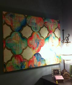 Fräulein Maria Quartrefoil Abstract Painting by Jennifer Moreman....pretty sure I'm going to recreate this some how.