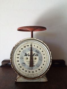 Vintage Way-Rite Metal Household Scale Kitchen Scale by Malama1