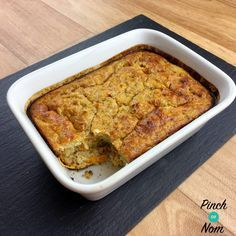 Syn Free Carrot Cake Baked Oats   Slimming World - http://pinchofnom.com/recipes/syn-free-carrot-cake-baked-oats-slimming-world/