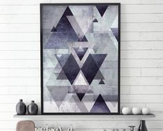 Purple Wall Art, Geometric Scandinavian Print, Abstract, Printable Poster, Purple Geometric, Scandinavian Decor, Modern Scandi, Downloadable THESE ARE INSTANT DOWNLOADS – Your files will be available instantly after purchase. :::: Please note that this is a digital download