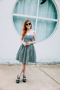 The Clothes Horse: Outfit: Gingham Girl