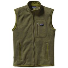 The Men's Better Sweater Vest by Patagonia has a wool-like knit face, a luxurious fleece interior and the rugged durability of polyester fleece.  #ecoactiveyou #organicclothingbrands