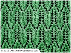 LACE KNITTING #13 | Arrow stitch pattern. Multiple of 8 sts + 1; 16-row repeat. ~~ See Torni Kiri
