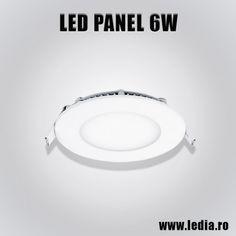 Panou Panel LED 6W eco rotund d120 mm incastrabil