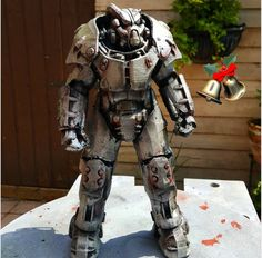Fallout 4 X-01 Power Armor 6.5 desktop model companion! (if you have special requests e.g. BOS logo on the front etc message me and let me know)  Im doing the series of power armors!  Please note: We are not affiliated by BethesdaSoftworks or its parent company Zenimax in anyway, just making the things I love!  Shipping totals will need to be changed before ordering larger models so please get in touch before ordering! :)