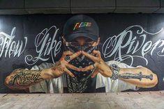 Royyaldog aka Chris Chanyang Shim 심찬양 in Korea, 2019 Graffiti Designs, Graffiti Murals, Street Art Graffiti, Mural Art, Wall Art, Amazing Street Art, Art Drawings, Photoshop, Korea