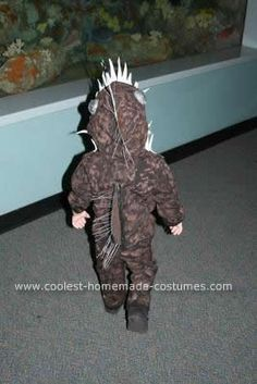 Homemade Angler Fish Costume: This costume is homemade and is of an angler fish. Many people don't know what that is so I often reference the movie Finding Nemo where the scary fish