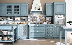 Cucina classica Monica - finitura azzurra, Arrex Le Cucine | CucinaIdea.com