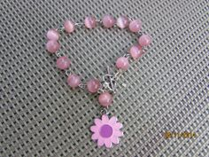 Pink Pink Beaded Bracelet by BeaderBubbe on Etsy, $8.00
