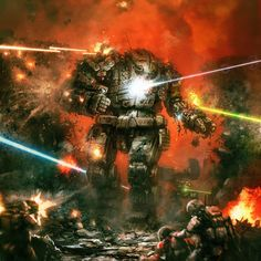 Battletech Box Cover by flyingdebris | Digital Art / Drawings & Paintings / Sci-Fi | Concept Futuristic Technology Weaponry Warfare Soldiers Battletech Mech Mechwarrior Atlas