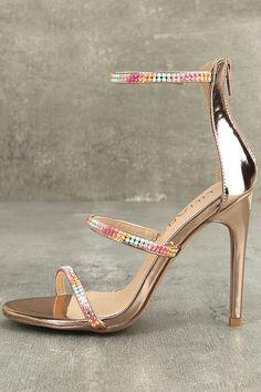Lianne Rose Gold Dress Sandals 2