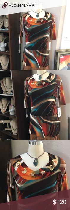 Autumn 🍂 Beauty by 🥂JOSEPH RIBKOFF 🥂😍😍😍 Great piece to liven up your wardrobe this Fall. A gorgeous top by 🥂🥂🥂JOSEPH RIBKOFF ( My Favorite Designer) 🥂🥂🥂 that is SLIMMING and Wonderfully Tailored to perfection. I ♥️♥️RIBKOFF. Not familiar? Pleas Google him. FABULOUS 😘😘😘🅱️🅱️BUNDLE 2 pieces to SAVE EVEN MORE🅱️🅱️. SHOP WITH CONFIDENCE I AM A POSH AMBASSADOR 🎉🎊🎉 ⭐️⭐️⭐️⭐️⭐️ Rated thanks to my Awesome Customers😘😘😘. I ONLY SELL MY PERSONAL TREASURES. SMOKE FREE. Please note…