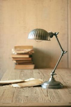 "Industrial desk lamp 7""d x 21""h $99.00"