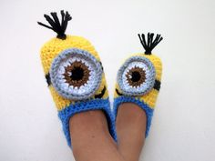 Crochet Minion Despicable Me Baby BootiesMinion by myknittingworld, $16.00