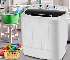 Nobody loves to hand wash clothes because it is very tiresome and it involves a lot of work. In this era, Portable washing machines are going to help you to do the work faster and perfectly. Compact Washing Machine, Mini Washing Machine, Washing Machines, Compact Laundry, Handwashing Clothes, Washer Machine, Smart Home, Cool Things To Make, Dorm Room