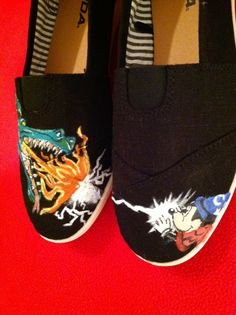 Custom hand painted acrylic canvas womens shoes by ncfcustomkicks