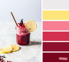 Color inspiration : Berry + grey and yellow #color #pantone #colorpalette #fabmood