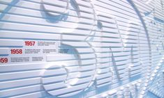 3M heritage wall Dates and brief text record the company's major landmarks.