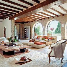 Spanish Style Homes, Spanish House, Spanish Style Interiors, Spanish Style Decor, Rustic Home Design, Dream Home Design, Farmhouse Design, Rustic Farmhouse, Modern Rustic Homes