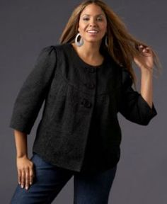 Designer trendy fashion clothing in larger sizes for curvy women