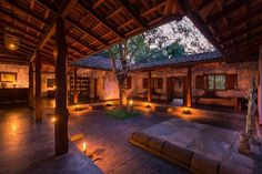 Ulpotha - The Best Yoga and Ayurveda Retreat in Sri Lanka - Vanilla Sky Dreaming Village House Design, Village Houses, Beautiful Home Designs, Beautiful Homes, Indian Bedroom Decor, Casa Patio, Farmhouse Architecture, Yoga Pictures, Courtyard House