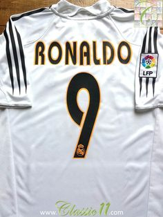 f4dd157116d Relive Ronaldo s 2004 2005 La Liga season with this vintage Adidas Real  Madrid home football