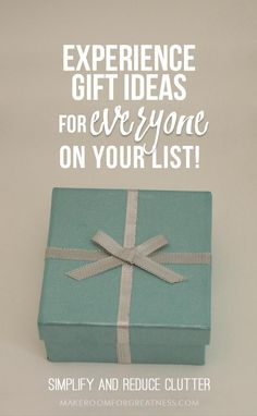 How to Give Experiences Instead of Gifts | Health and Wellness ...