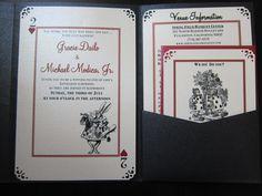 DIY Alice In Wonderland Themed Wedding Black Diy Invitations Ivory Red IMG 0605 Copy