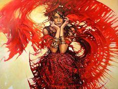 scarlet woman Wallpaper