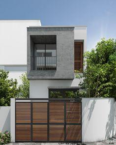 killmidear - 0 results for design Minimal House Design, Small House Interior Design, Small House Exteriors, Facade Design, Exterior Design, Modern Exterior, Narrow House Designs, Townhouse Exterior, Townhouse Designs