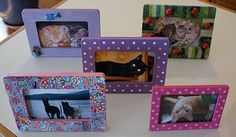 Babbling Brooke: Getting Crafty: Decorating Picture Frames