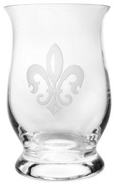 Grand Fleur De Lis Hurricane traditional cups and glassware