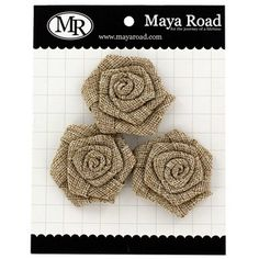 Maya Road Vintage Burlap Roses that would be great to be used on placemats, a runner, or even added onto a simple lamp shade!