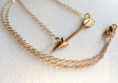 Gold Arrow Necklace // Arrow Necklace // by PERCIVALandHUDSON