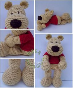 Love Fiber Doodles patterns! The shaping is really nice--fun bear to make!