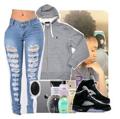 Untitled #364 by gabb-slayy ❤ liked on Polyvore featuring Jordan Brand
