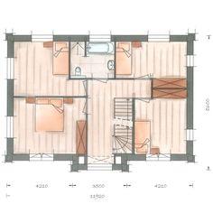 Huisbouwen villa Lindepijlstaart plattegrond verdieping