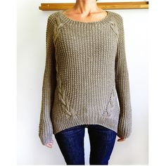 Ravelry: Dagmar cable knit sweater pattern by Handy Kitty