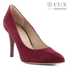 d36ac436f3 Bordó Anis alkalmi cipő Nagyon elegáns, 9 cm magas sarkú alkalmi cipő nubuk  bőrből.