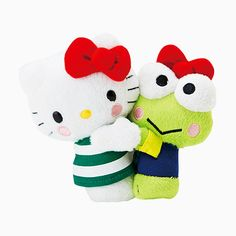 Hello Kitty Plush Doll... Awww keropi and hello kitty