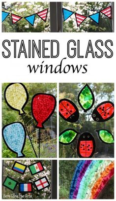Stained Glass Window Decorations - Here Come the Girls
