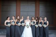 Image result for grey bridesmaid dresses