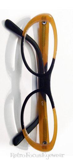 de8e461897 Wicked Olga oval cat eye reading glasses eyeglass frames in caramel black.