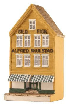 "Bryggen I Bergen, ""Sild"" - Lillesand Design AS Miniature Houses, Norway, Shed, Outdoor Structures, Cabin, House Styles, Handmade, Design, Home Decor"